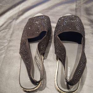 Lane Bryant Rhinestone Sandals, EUC